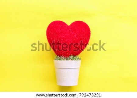 heart  on and pastel paper background #792473251