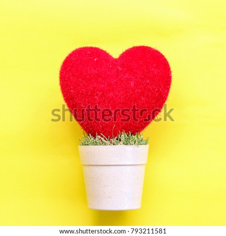 heart  on and pastel paper background #793211581
