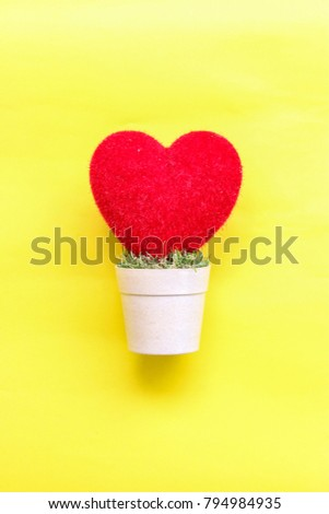 heart  on and pastel paper background. Top view.  #794984935