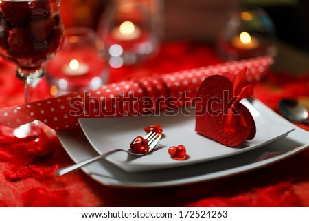 Heart on fork, Valentines Day