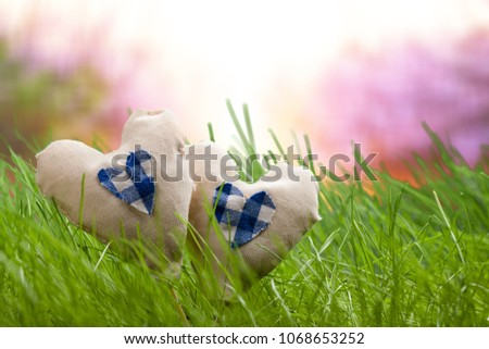 heart on grass #1068653252