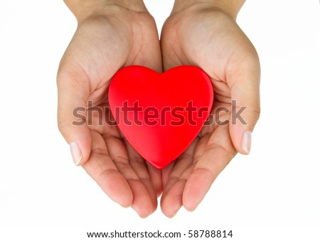 Heart on the palm
