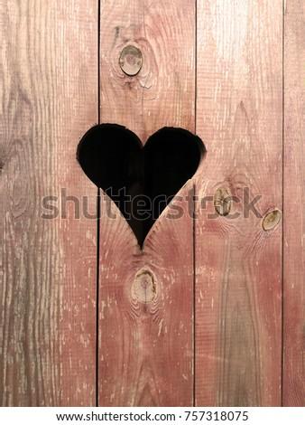 Heart on the privy door