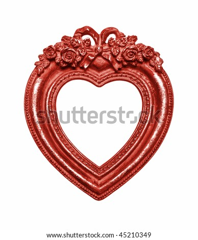 Heart Picture Frame isolated on white background, graphic design element