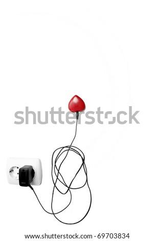 Heart power concept