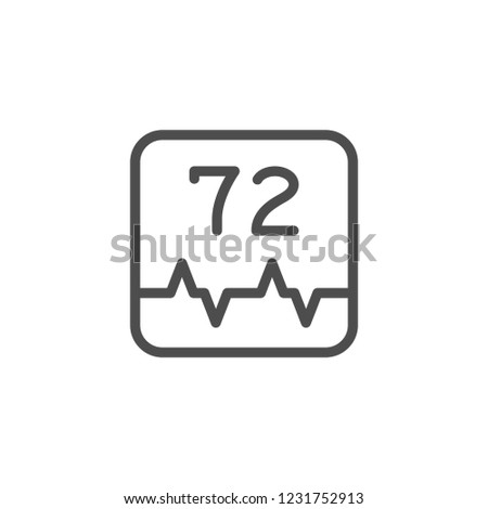 Heart pulse line icon isolated on white