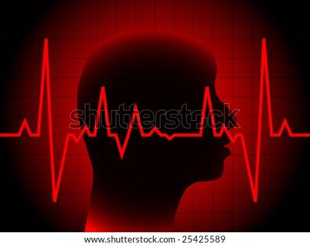 heart pulse (raster image of vector)
