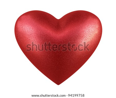 heart render (isolated on white and clipping path)