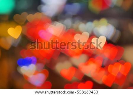 Heart Shape Bokeh Background. (Colourful) #558169450