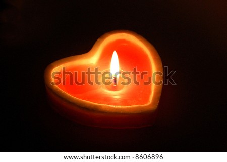 Heart shape candle