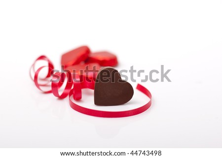 heart shape chocolate for love