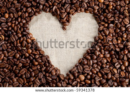 Heart shape Coffee Beans