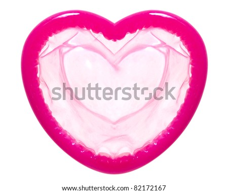Heart shape condom