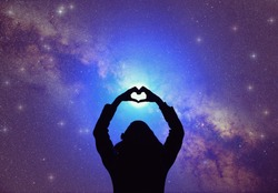 Heart-shape for the stars. My astronomy work.