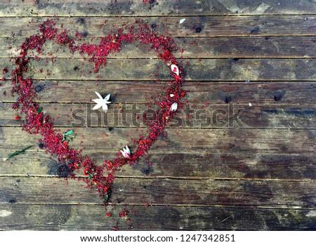 Heart shape from flowers #1247342851