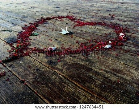 Heart shape from flowers #1247634451