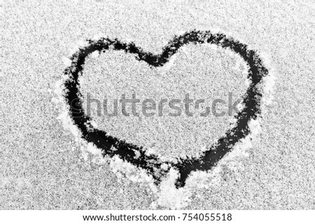 Free Photos Snow Heart On The Car Window Avopix