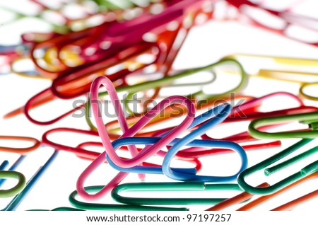 heart shape paper clip background