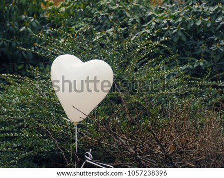 Heart shape white balloon, love concept with space for text #1057238396