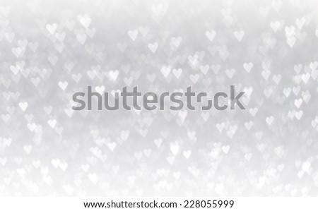 Heart Shaped Bokeh Background