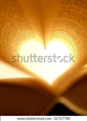 heart-shaped book (macro-shot)