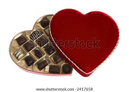 stock photo : Heart Shaped Box of Chocolates