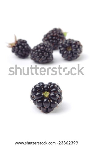 Heart shaped bramble berry. Isolated