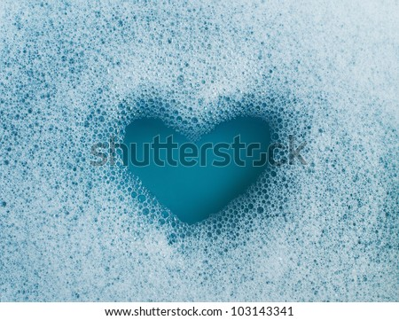 Heart Shaped Bubbles - stock photo