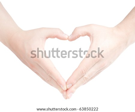 Heart shaped by hands