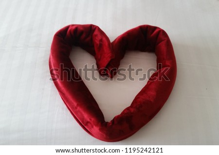 Heart shaped by towels  #1195242121