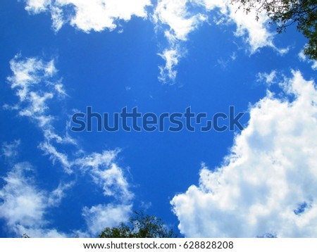 Heart shaped clouds. #628828208