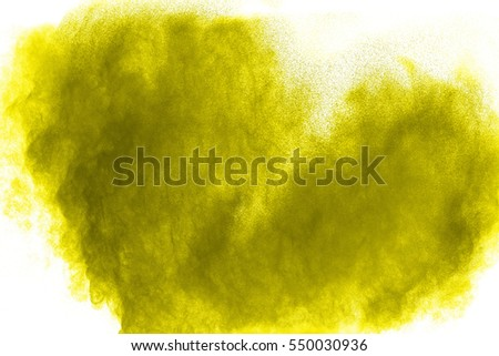 Heart shaped colored powder  on white  background. #550030936