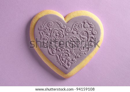 Heart shaped cookie with ornaments