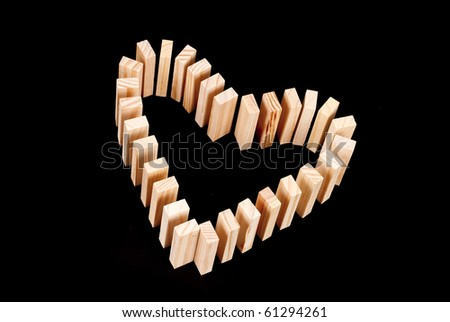 Heart Shaped Domino Rally Set