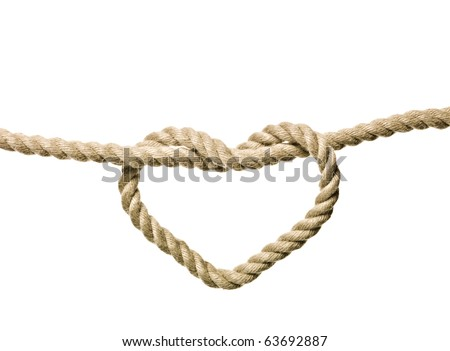 heart shaped knot on a rope...