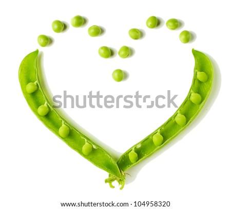 Heart shaped peas