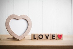 Heart shaped photo frame with