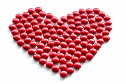Heart shaped pill