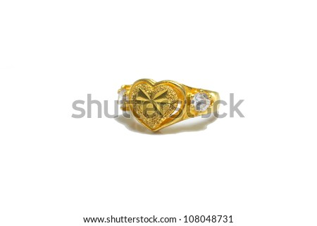 Heart-shaped ring