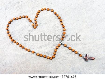 Heart shaped rosary