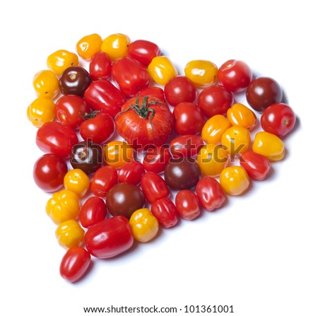 Heart shaped tomatoes