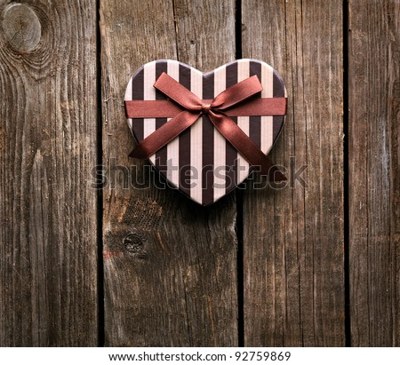Heart Shaped Wooden Gift Box