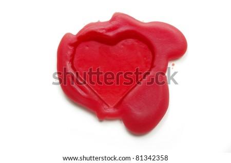 Heart-shaped wax seal