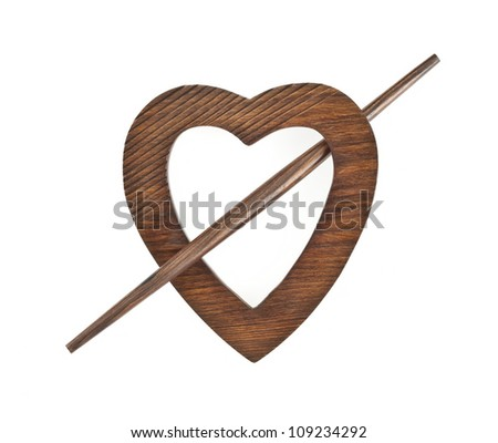 Heart - shaped  Wooden Curtain Holder