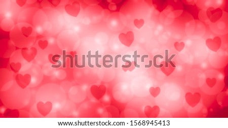 heart shapes with bokeh effect as background love background stock photo