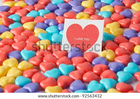 heart sign candy with love