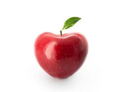 Heart symbol apple on white background.love apple,valentines.