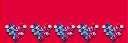 Heart symbol background made of flower ribbons (for Valentine's Day), love image