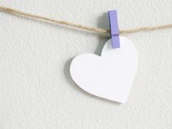 heart symbol hanging wit rope