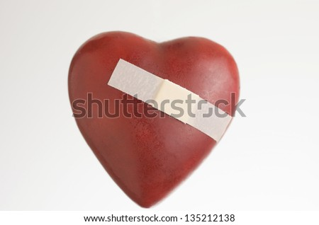 Heart That Is Hurt With Band Aid